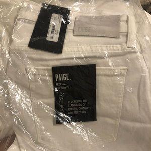 Paige Federal Transcend Slim Fit Jeans - white